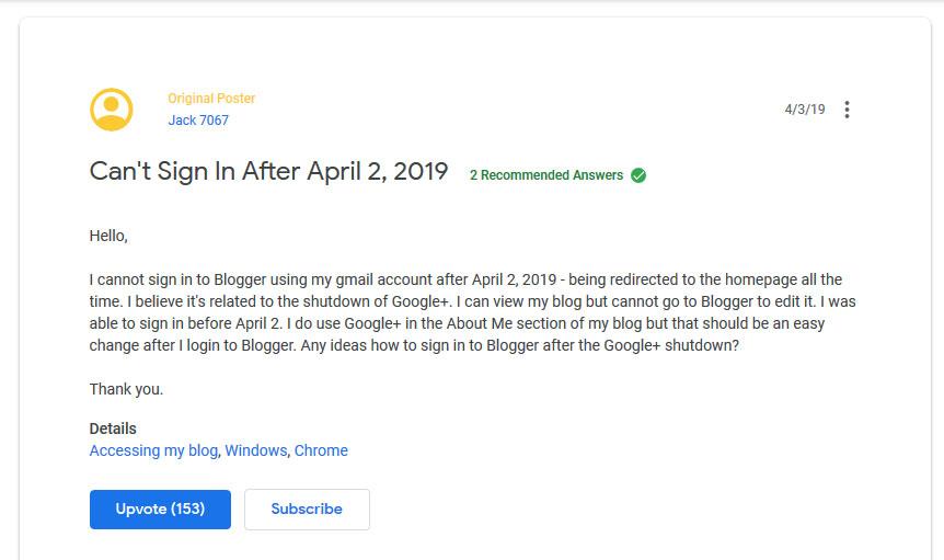 tidak bisa login blogger