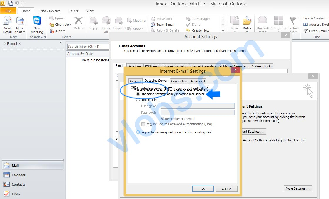 Cara Setting Email cPanel di Outlook 6