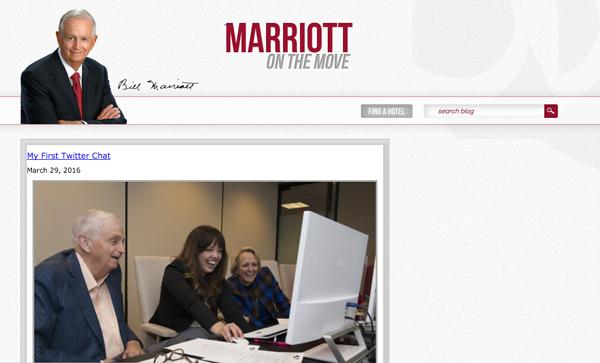 Marriott blog