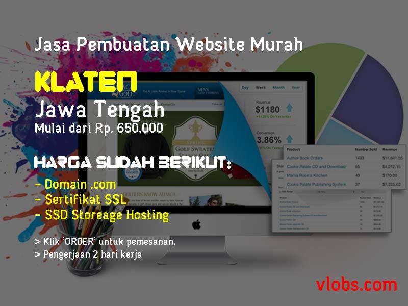 Jasa Pembuatan Website Murah Di Klaten - Jawa Tengah