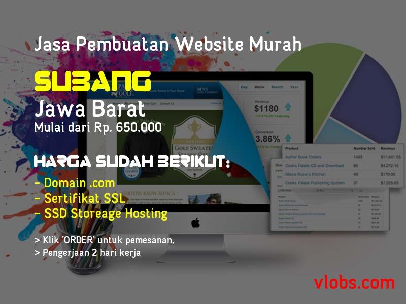 Jasa Pembuatan Website Murah Di Subang - Jawa Barat